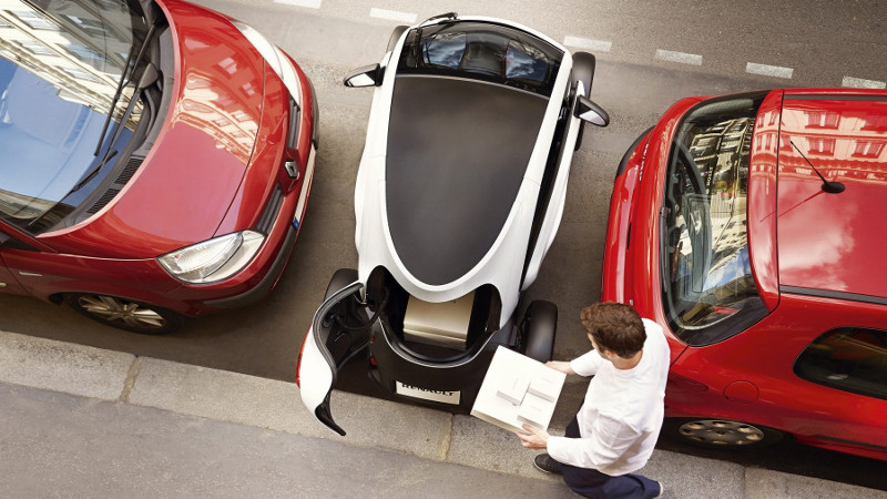 Twizy electric car rental St Barts